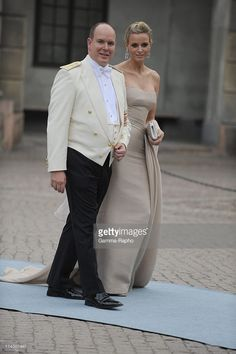 Wedding of Her Royal Highness Crown Princess Victoria of Sweden and Daniel Westling In Stockholm, Sweden On June 19, 2010-Prince Albert II of Monaco and Charlene Wittstock.