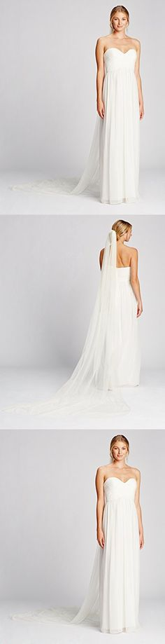 Twigs & Honey Women's Lux Tulle Cathedral Bridal Veil Train, Ivory, One Size