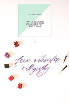 Learn how to create beautiful watercolor calligraphy in this tutorial by Zakkiya Hamza of Inkstruck Studio