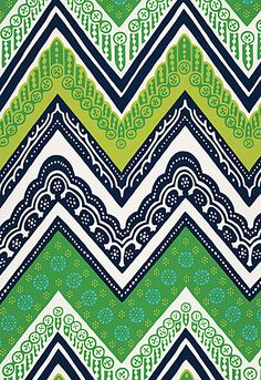 Tangier Frame Print in Sea Grass by Trina Turk for Schumacher Fabrics