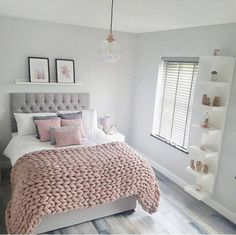 55 pretty pink bedroom ideas for your lovely daughter 11 - Wohnen - schlafzimmer Cozy Bedroom, Trendy Bedroom, Modern Bedroom, Bedroom Decor, Bedroom Ideas, Contemporary Bedroom, Bedroom Designs, Bedroom Simple, Bedroom Lighting