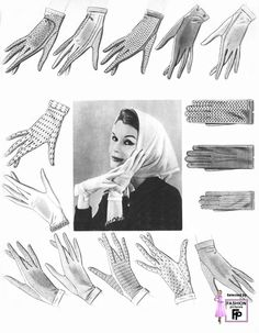 1950s women gloves. It was very common for women to wear gloves. It was a very lady like aspect. They would wear them to formal places or simply when they are going out.