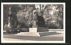 schöne AK Düsseldorf, der Bergische Löwe, Weltkriegs-Denkmal | eBay