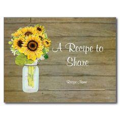 Rustic Country Mason Jar Flowers Sunflower Bouquet Post Card