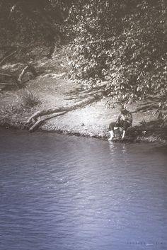 Blue River Fisher Man by Eduardo Vilela