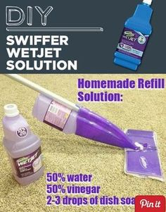 Swiffer juice.... use natural dish soap
