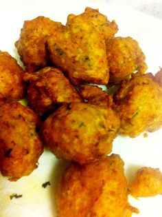Bajan fish cakes - he makes the best!