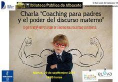 #actividadesbiblioteca Coaching para padres y el poder del discurso materno, con Valeria Aragón.  29 de septiembre, 19:00 horas.