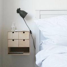 Wall-mounted Ikea 'Moppe' drawers @krawzova