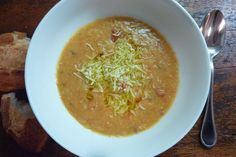 tomato & white bean soup