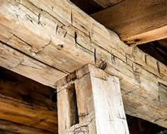 "10"" x 9"" rough reclaimed barn wood beams made from mixed hard woods - Priced per Linear FOOT by ChicagoFabrications"