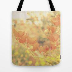 Warm Tones & Petals Tote Bag #tote #bag #totebag #bookbag #warm #floral #flowers #orange