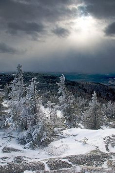 """Passing Snow Squall ~ """"Snow storms hammer Mt. Cardigan and the surrounding peaks all day"""" via flickr Matt Hoffman"""
