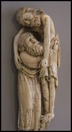Jesus is Carried Down from the Cross by Joseph of Arimathea. Medieval Ivory at The Museum of Victoria and Albert Museum | by Lawrence OP
