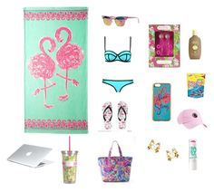 """""""Chilling by the pool"""" by janeannavickery ❤ liked on Polyvore featuring beauty, Lilly Pulitzer, Maybelline and Sun Bum"""