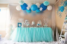 Frozen Wonderland Birthday Party via Kara's Party Ideas KarasPartyIdeas.com