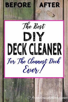 Looking for an easy and inexpensive way to wash your deck? This oxygen bleach homemade deck cleaner works really well and is non-toxic.it won't harm your plants, pets or kids. Porches, Clean Siding, Deck Brush, Deck Cleaner, Oxygen Bleach, Bleach Uses, Easy Deck, Deck Makeover, Deck Decorating