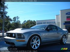 2008 Ford Mustang GT Premium Coupe in Vapor Silver Metallic Photo No. Ford Sports Cars, 2008 Ford Mustang, Blue Mustang, Modern Muscle Cars, Classic Car Insurance, Born To Run, Car Ford, Maserati, Mustangs