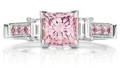 Calleija The Pink Princess engagement ring in platinum, set with 1.52ct natural Australian Argyle Pink diamonds