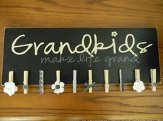grandkids, possible diy for christmas this year to grandparents?