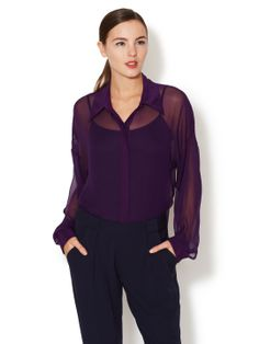 Silk Scout Blouse by CrOp by David Peck at Gilt