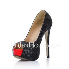 Pumps - $50.99 - Sparkling Glitter Stiletto Heel Peep Toe Platform Sandals (085022628) http://jenjenhouse.com/Sparkling-Glitter-Stiletto-Heel-Peep-Toe-Platform-Sandals-085022628-g22628