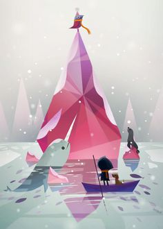 I love the interplay of simple shapes and subtle textures in this illustration. The colors are a lot of fun too.