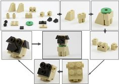 Build your own LEGO Oliver Twist the pug dog [Instructions]