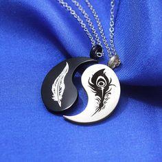 Yin Yang fifi et collier de lamitié Xayah Yin Yang collier