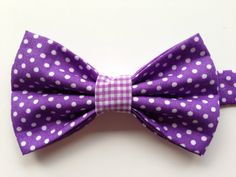 Kids Purple Polka Do