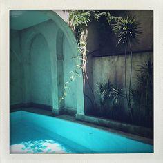 "Marrakesh - At the hammam at La Maison Arabe enjoying the ""the ultimate jet-lag cure."""