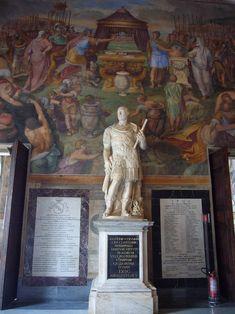 Rome Buildings, 16th Century, Art Boards, Italy, Statue, Gallery, Painting, Roman, Dark