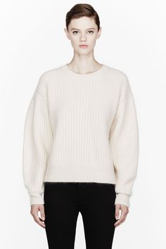 ACNE STUDIOS Cream ribbed angora Lillian sweater My Most Wanted Item 2013.