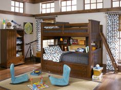 Great boy's bedroom  - Schneiderman's Furniture #bedroom #furniture #boys #bunkbeds