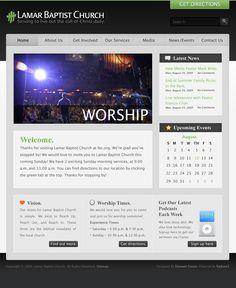 FREE Modern Bright Green Style Website Template by: testamentdesign.com