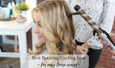 Which is the best and easiest to use rotating curling iron? From premium professional brands to bargain tools - find out our top picks! Curling Iron Tutorial, Curling Iron Tips, Wand Curling Iron, Rotating Curling Iron, Good Curling Irons, Loose Curls Short Hair, How To Curl Short Hair, Curling Iron Hairstyles, Curled Hairstyles