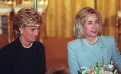 Diana with Hillary Clinton