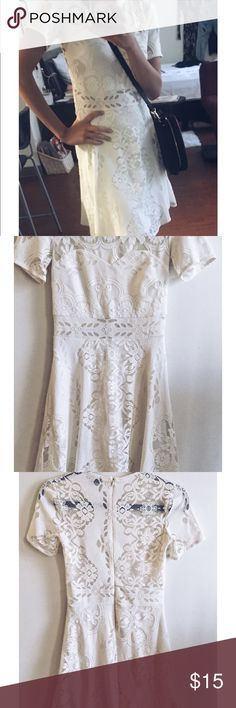 Topshop Lace Dress Ivory Lace Dress by Topshop- worn once Topshop Dresses Midi