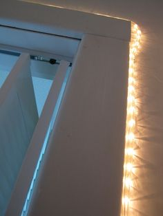 Put a string of lights INSIDE your closet so that you can see at night without having to turn ALL the lights on! It's genius! :)