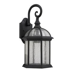 Give your patio a touch of elegance with these outdoor light fixtures, featuring clear-seeded glass for a bright light. Designed to be easily mounted to walls, this black light fixture is resistant to corrosion and weather for long-lasting durability.