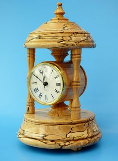 Bandstand clock in Spalted Beech. See folksy IceniWoodCrafts UK
