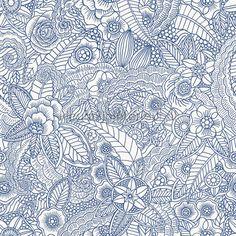 Ibiza flowers blauw behang 140-148 615, Cabana van Esta home