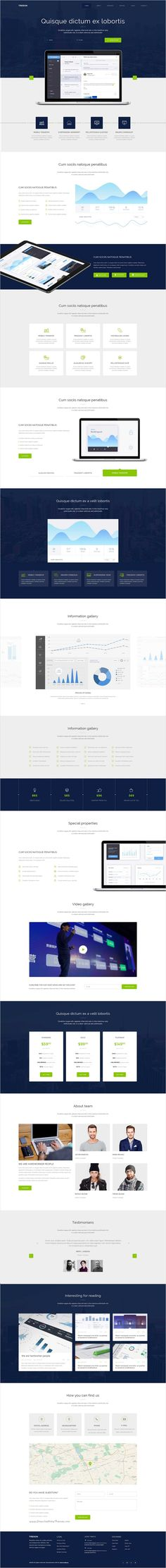 Treson is a one page business 3 in 1 #WordPress #Theme  for digital #agency, #freelancer, app, startup, business, services, software website download now➩ https://themeforest.net/item/treson-one-page-wordpress-theme/16700132?ref=Datasata