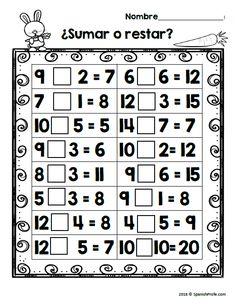 Free Bilingual February Math Worksheets- First Grade