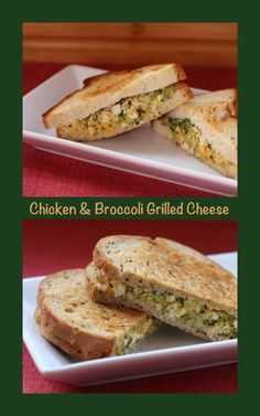 Chicken & Broccoli Grilled Cheese   cupcakesandkalechips.com   #grilledcheese #chicken can be #glutenfree, too!