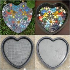 by christina carrera Mosaic Stepping Stone! by christina carrera The post Mosaic Stepping Stone! by christina carrera appeared first on Look. Pebble Mosaic, Mosaic Art, Mosaic Glass, Concrete Stepping Stones, Garden Stepping Stones, Homemade Stepping Stones, Paving Stones, Concrete Crafts, Concrete Projects