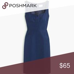 NWT J. Crew Mae Dress 00 XXS New with tags! In Haven Blue, size 00, classic cotton/viscose faille fabric. Fully lined with bra keeps and a hidden back zip closure. Purchased from J. Crew, NOT from their factory line.  More photos to come.  Price is FIRM. J. Crew Dresses