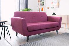 #contemporary #pink #sofa #livingroom