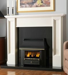 Black Beauty Slimline Outset Gas Fire, From Valor Sitting Room Decor, Living Spaces, Living Room, Gas And Electric, Gas Fires, Black Beauty, Fireplaces, New Homes, Lounge