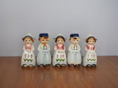 Vintage 1950s Dutch Boy and Girl Spice Set / Dutch Children Spice Shakers by FireflyVintageHome